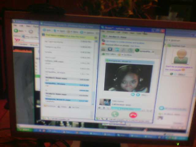 My friend on a skype chatroom